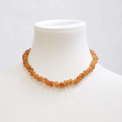 Light Carnelian Bubble Necklace