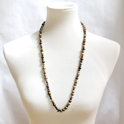Boho long bead necklace