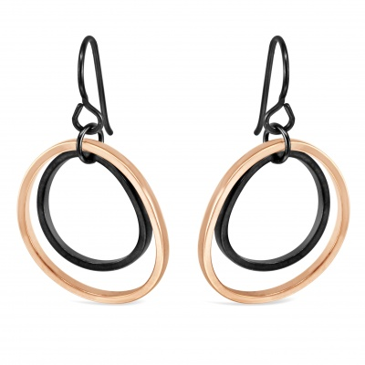 V6 Earrings (Rose Gold)