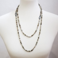 Moss Green freshwater pearls necklace