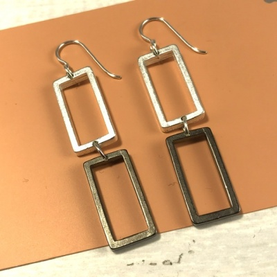 Two Rectangles post earrings