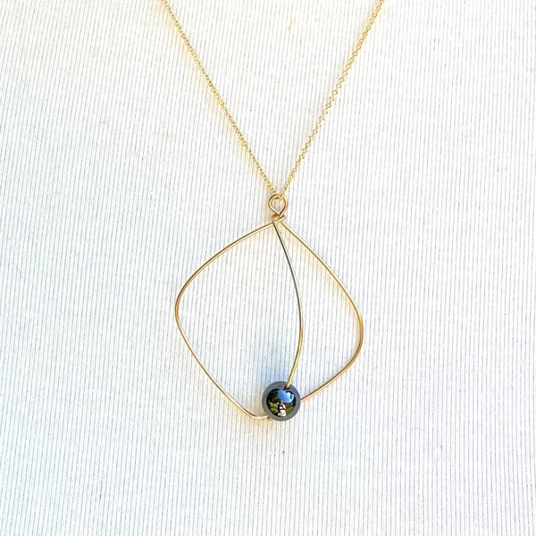 Classic Gold & Hematite Necklace