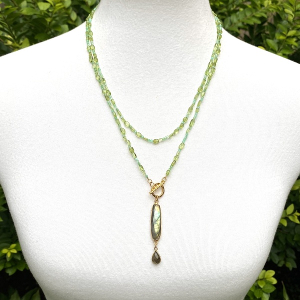 peridot, amazonite & labradorite necklace