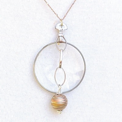 Optical 1234 - rose gold necklace