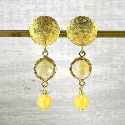 Citrine earrings 2263