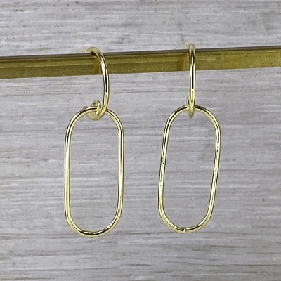 Gold geometric earrings 2309