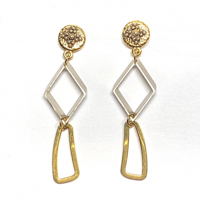 Triple geomteric earrings 2053