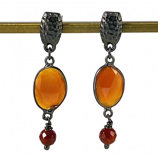 Oval Carnelian Earrings