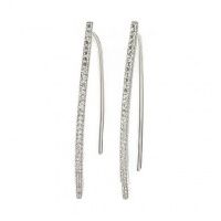 CZ sliver earrings
