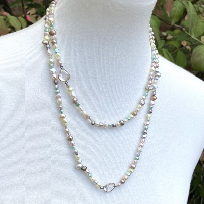 Pastel pearl necklace 2553