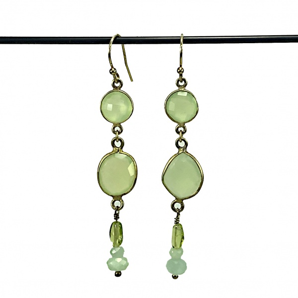 Amazonite dangle earings 5254