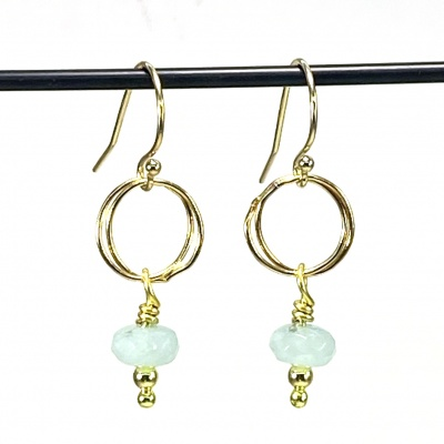 Amazonite earrings 5256