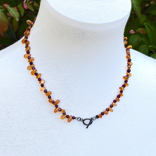 Carnelian Garnet Necklace 2569