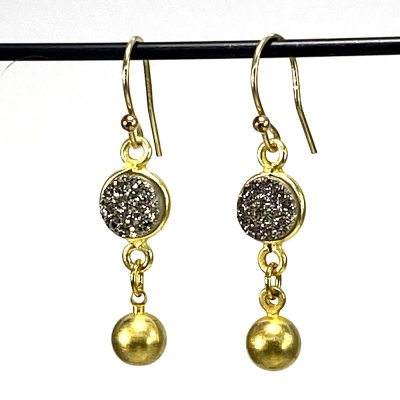 Druzy & gold earrings 5268