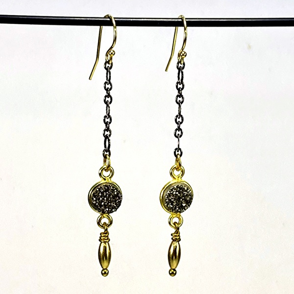 Druzy & gold earrings 5274