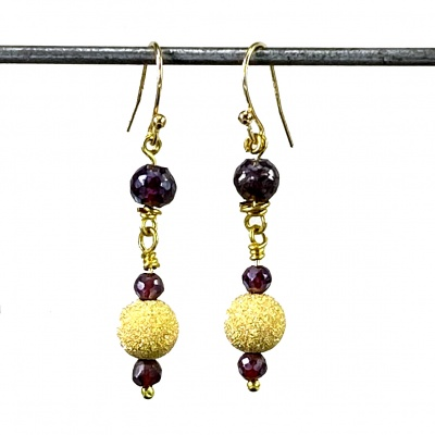 Garnet earrings 4056