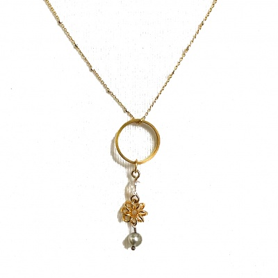 Ring & flower necklace 5101