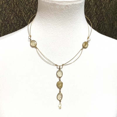 Rutilated quartz Necklace 4036