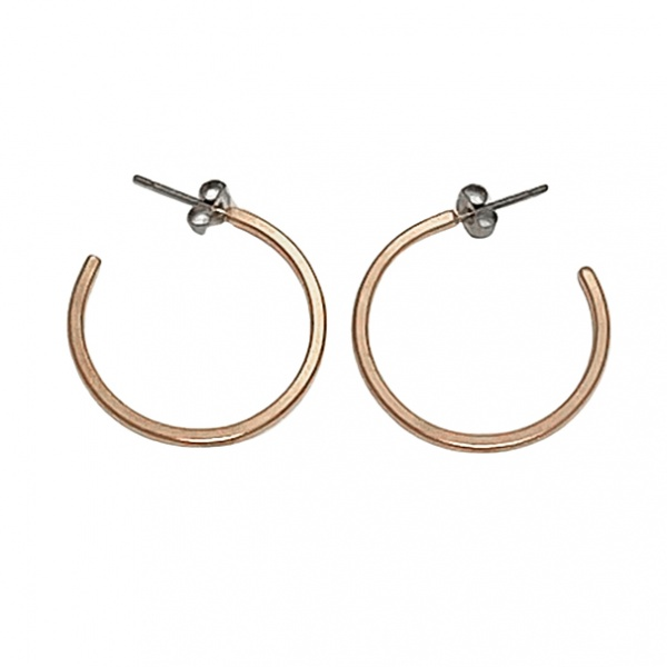 Hoops-medium round (Rose gold)