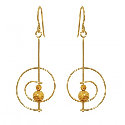 C5 Saturn Earrings